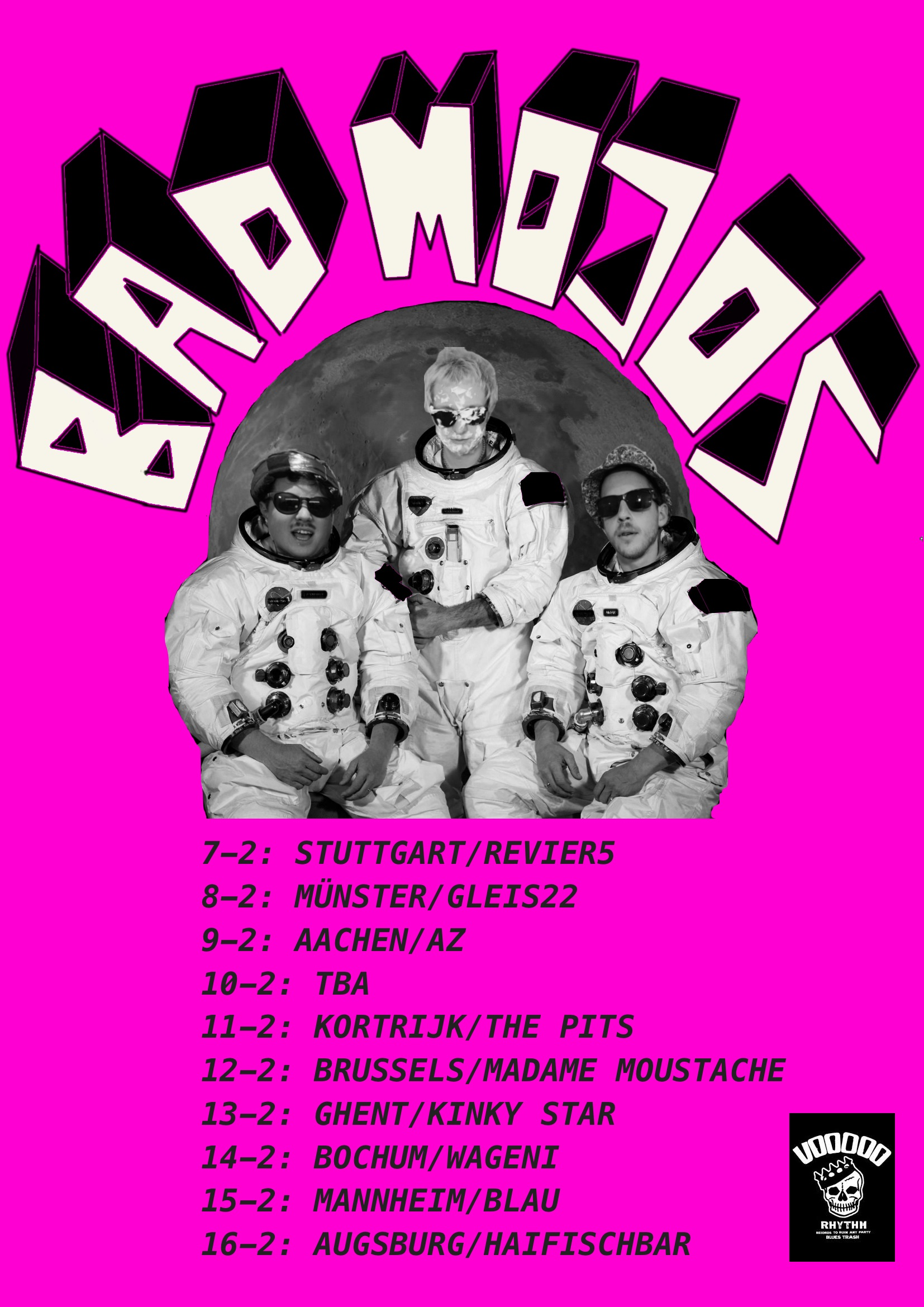 BAD MOJOS TOUR POSTER